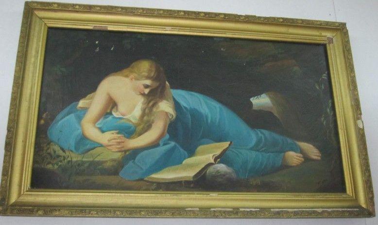 Старинная Картина Маслом На Холсте